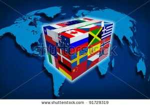 stock-photo-global-cargo-and-on-line-shipping-worldwide-delivery-transport-courier-with-a-world-map-from-91729319