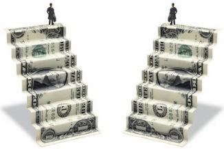 escalera de dinero